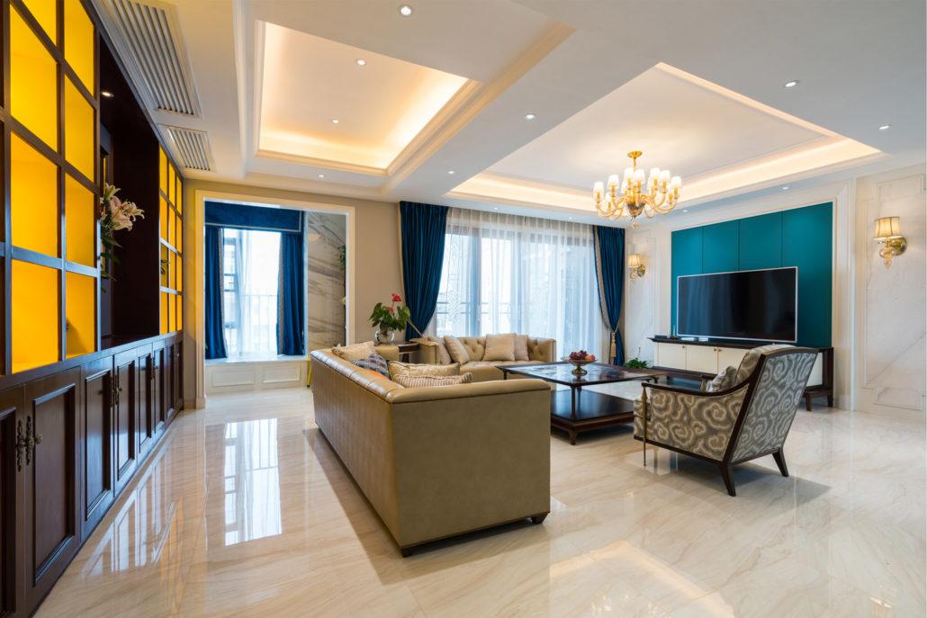 rénovation de plafonds d'un appartement
