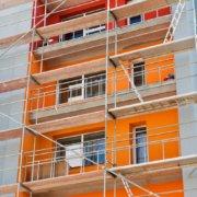Rénovation d'une façade d'un immeuble